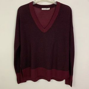 RAG & BONE V-Neck Pullover Merino Wool Sweater